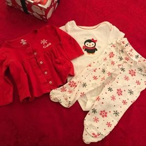 Koala Baby 3 piece Holiday Penguin Outfit